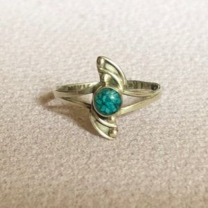 Jewelry - Vintage taxco southwestern turquoise wave ring